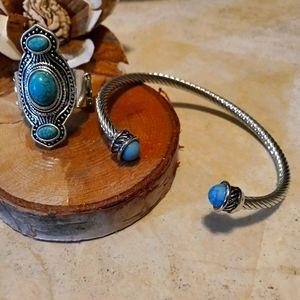 Plunder Bracelet/ turquois/ Paparazzi ring/ set